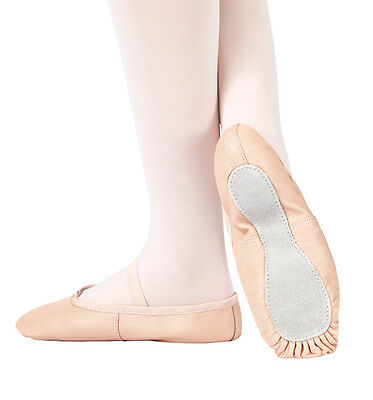 Child's Theatricals Footwear Full Leather Sole Ballet Shoes T1000C-Size 10 BLACK