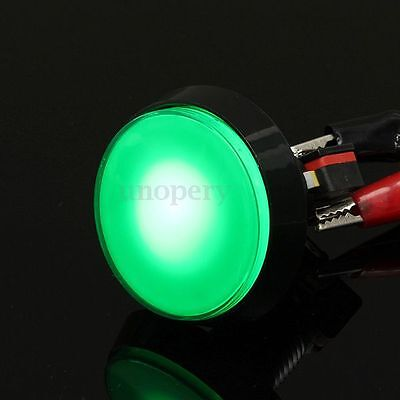 60MM Green LED Light Lamp Big Round Arcade Video Game Player Push Button Switch