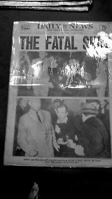 Rare Vintage Newspaper - Kennedy, The Fatal Shot