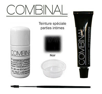 Kit teinture parties intimes noir 15ml Combinal