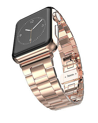 Hoco Apple Watch 42 mm Stainless Steel SlimFit Armband - Rosé