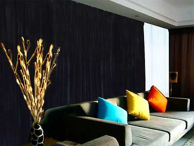 Long Large Velvet Curtains Black 600x270cm with 4m blockout+30 Hook New