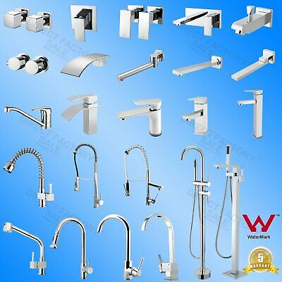 Pull Out Kitchen Faucet Laundry Vanity Bathroom Shower Head Wall Mixer Taps WELS