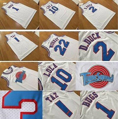 Tune Squad Basketball Space Jam Jerseys All Size White And Black Get Free Gift
