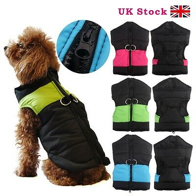 Large Dog Pet Waterproof Winter Warm Jacket Coat Outdoor Quilted Padded Puffer