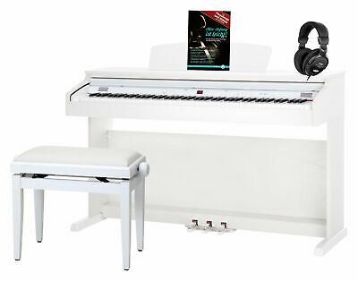 Classic Cantabile Dp-50 Wm E-Piano Set Digital 3 Pedale Kopfhörer Bank Noten Usb