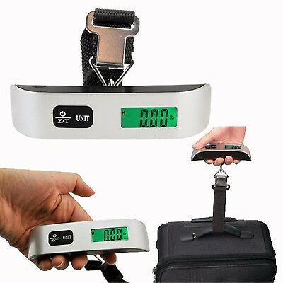 50kg 10g New Hanging Electronic Digital Travel Suitcase Luggage Weighing Scales