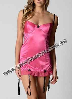 Your Pleasure Sexy Carla Babydoll Lingerie sizes 6 8 10 12 14 16 18 20 22 Pink