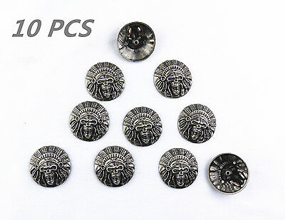 Magic Show 10pcs Western Ancient Skull Texas Star Saddle Conchos TO188