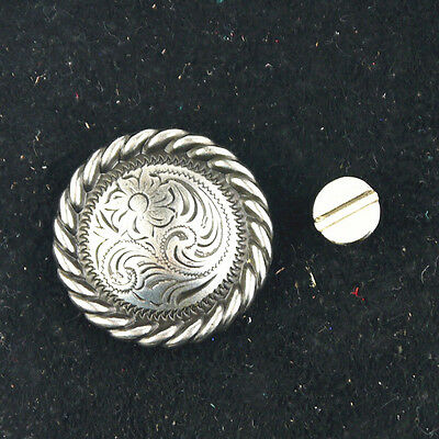 Magic Show 1 Pcs Western Antique Silver Ripple Flowers Concho TO194