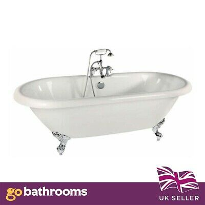 Meah Freestanding Roll-Top Acrylic Bath