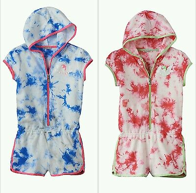 Juicy Couture Toddler and Girls Tie-Dye Hooded Romper