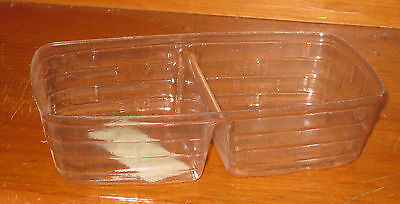 2006 Longaberger Holiday Helper / Biscuit Small Server Divided Plastic Protector