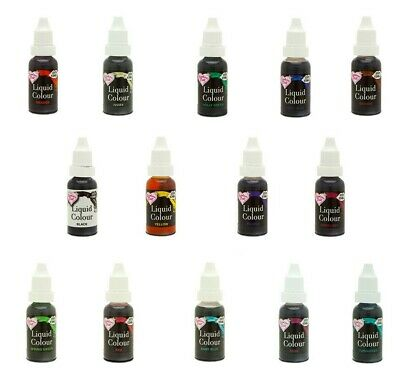 Rainbow Dust Colour Flo Liquid Food Colouring /Air Brush Paint colour 16ml Cake