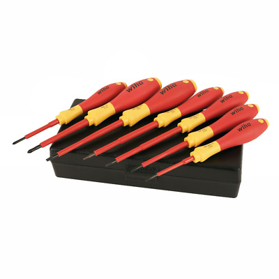 Wiha 32188 Insulated Slotted & Phillips Small Screwdrivers Set 7 Piece