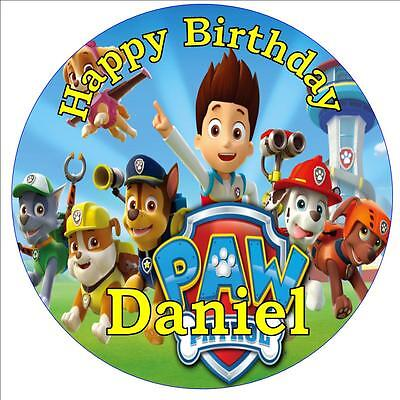 Paw Patrol Edible Rice Wafer Paper Cake Toppers Children Birthday Party