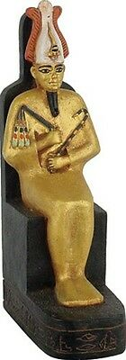 Osiris Egyptian Art Miniature Statue Homeschooling Teaching 3.5H E-321GP