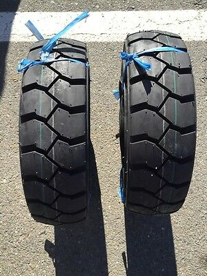 Two 5.00-8 500-8 FORKLIFT TIRE With Tubes, Flap Grip Plus Heavy duty
