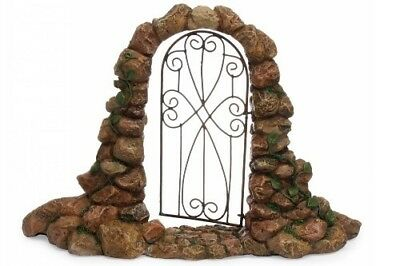 Miniature Dollhouse FAIRY GARDEN - Arched Stone Gateway - Accessories
