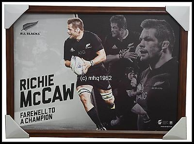 Richie Mccaw All Blacks Retirement Print Framed Farewell To A Legend 33 Brown