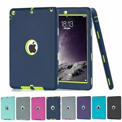 Shockproof Heavy Duty Rubber Hard Case Cover For Apple Ipad 2 3 4 Mini Air Pro