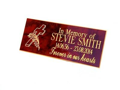 Personalised Engraved Bench Memorial Plaque