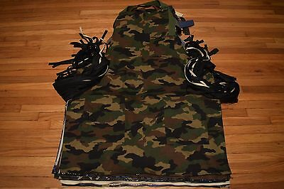 Army Camouflage Apron Tools Woodwork Barber Hair Stylist Artist Chef Grilling