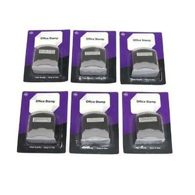 Stamp Office 6 Styles Paid/ Copied/Faxed/Posted/Received ink pad