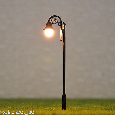 15 pcs OO HO gauge Lamp LEDs made Model Lamppost long life Lights No Melt #Y2711