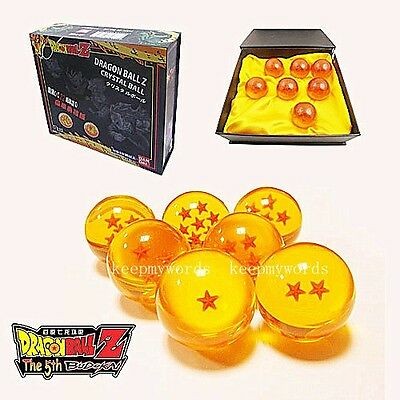7pcs JP Anime Dragon Ball DragonBall Z Stars Crystal 35mm Diameter Ball Set Gift