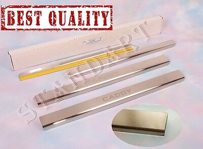 VW CADDY 5D 2004-14 4pcs Stainless Steel Door Sill Guard Cover Scuff Protectors