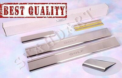 VW GOLF IV 5D 1997-2003 Stainless Steel Door Sill Guard Cover Scuff Protectors