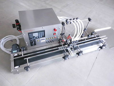 Four heads full automatic liquid filling machine 10-300ml 220V or 110V STAINLESS