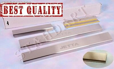 VW JETTA VI 2010- 4pcs Stainless Steel Door Sill Guard Cover Scuff Protectors