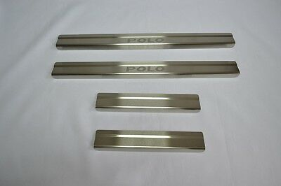 VW POLO IV 5D 2001-2008 Stainless Steel Door Sill Guard Cover Scuff Protectors