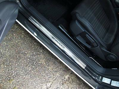 VW SCIROCCO 2008-2014 Stainless Steel Door Sill Guard Cover Scuff Protectors 2pc
