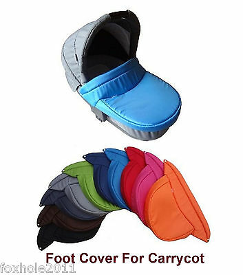 Universal Foot Cover For Carrycot With Snaps Poppers Replacement New 41x44cm