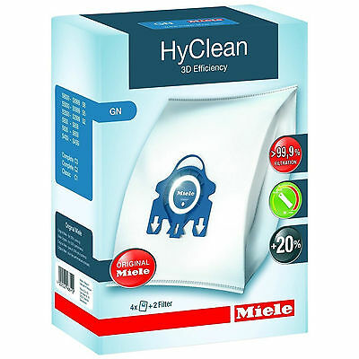 Genuine 3D MIELE GN HyClean Vacuum Cleaner DUST BAG x 8PK
