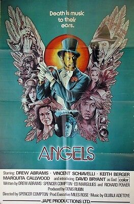 939 ANGELS English one-sheet movie poster '76 Death is music to their ears,