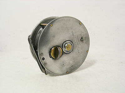 "Vintage Antique Farlow Patent 4"" Alloy Salmon Fly Fishing Reel"