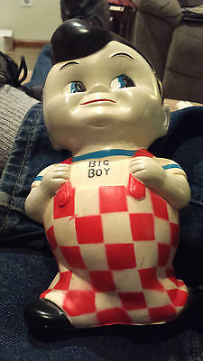 Vintage Bob's Big Boy Collectible Coin Bank Hard Vinyl Plastic  Excellent