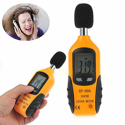 Digital LCD Sound Level Noise Meter Decibel Pressure Monitor DB Tester Measure