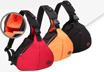 Waterproof DSLR Camera Triangle Shoulder Bag Case For Canon Nikon Sony