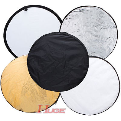 Photography Photo Reflector 80cm 5-in-1 Light Collapsible Portable Reflector AU