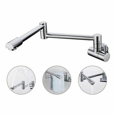 Pot Filler Faucet Wall Mount Brass Black Articulating Folding Kitchen Faucet Tap