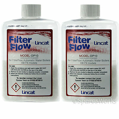 2 Lincat Genuine Bioguard Water Boiler Limescale Descaler Powder Bottle 200g