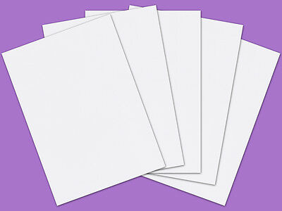 75 Sheets A4 350gsm 470mic Craft Creations Smooth Matt White Card Stock