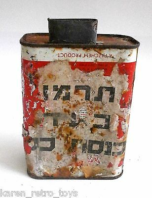 Rare Contribute Knesset Israel Paztox Oil Gas Fuel Original Vintage Tin Can