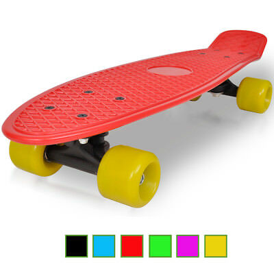 New Retro Skateboard 57cm Long 6 Colours Selectable Cruiser Penny Mini Deck Kids