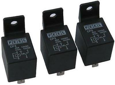 3 x PEEL CP5 RELAYS - 12 Volt 40 Amp 5 Pin - LPG VEHICLE SUITABLE - RELIABLE